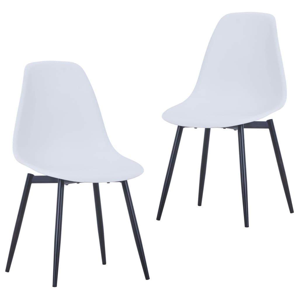 Jídelní židle 2 ks bílé PP