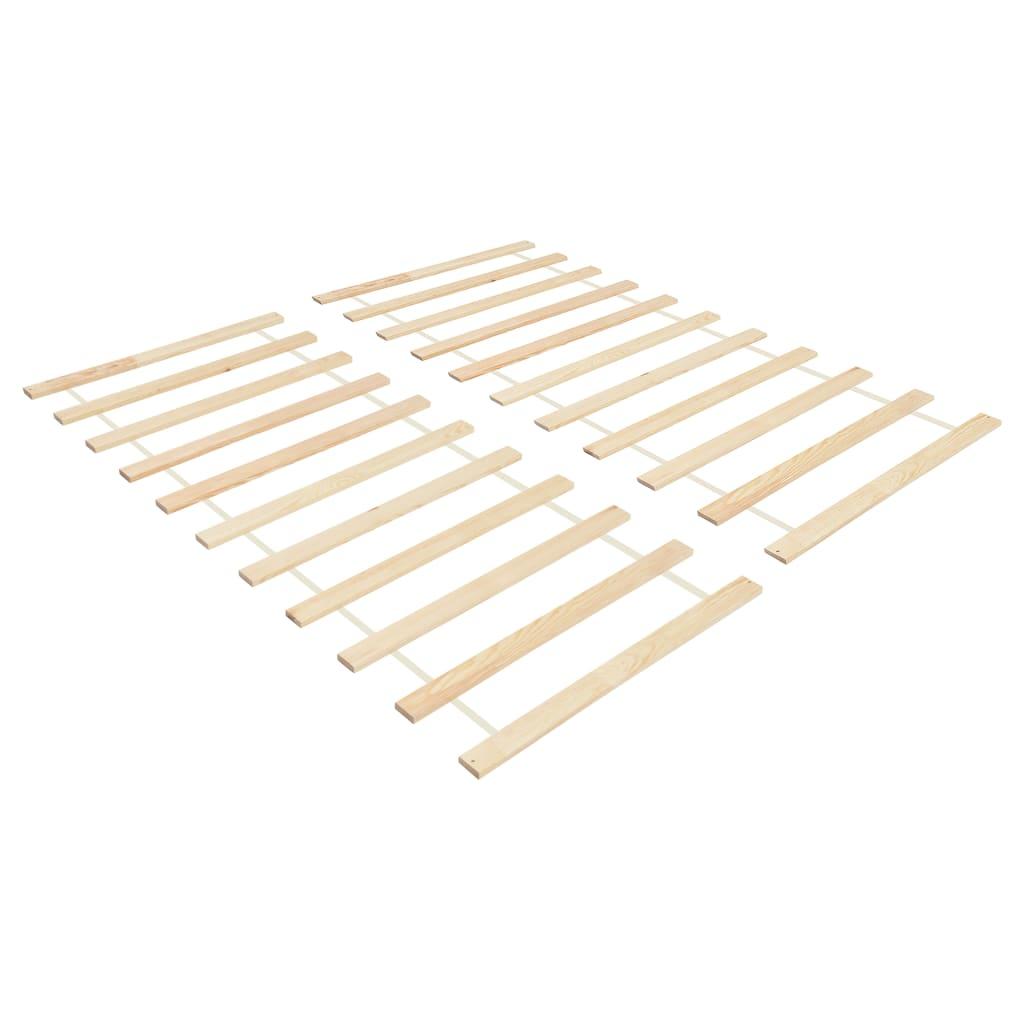vidaXL Baze pat rulabile cu 11 șipci 2 buc. 90x200 cm lemn masiv pin vidaxl.ro