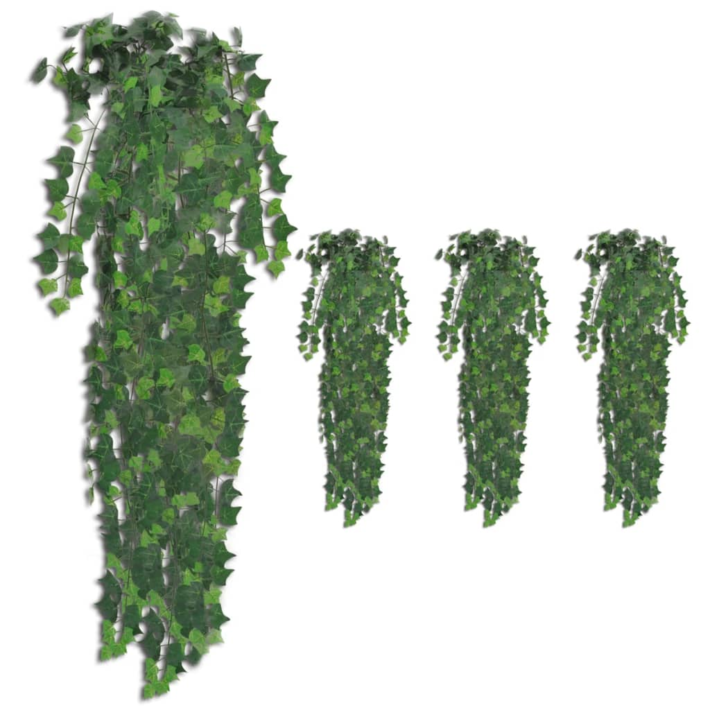vidaXL Tufișuri de iederă artificială, 4 buc., verde, 90 cm vidaxl.ro