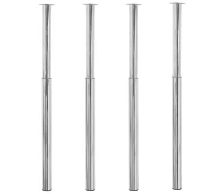 vidaXL Pieds de table télescopiques 4 pcs Chrome 710 mm - 1100 mm[1/6]