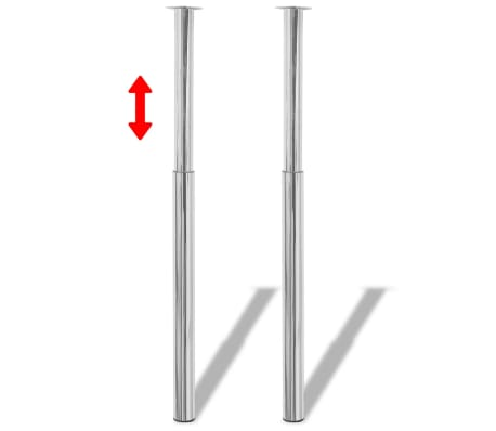 vidaXL Pieds de table télescopiques 4 pcs Chrome 710 mm - 1100 mm[2/6]