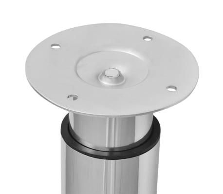 vidaXL Pieds de table télescopiques 4 pcs Chrome 710 mm - 1100 mm[4/6]