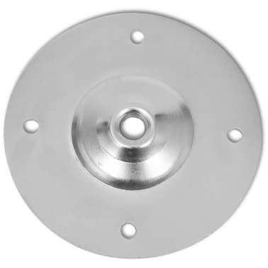 vidaXL Pieds de table télescopiques 4 pcs Chrome 710 mm - 1100 mm[6/6]