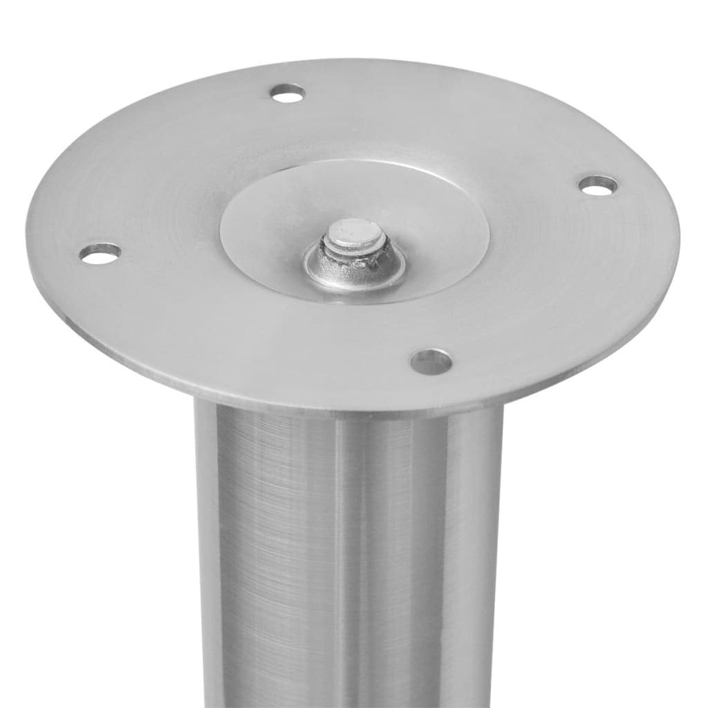 vidaXL Teleskopske noge za stol 4 kom boja brušenog nikla 710-1100 mm