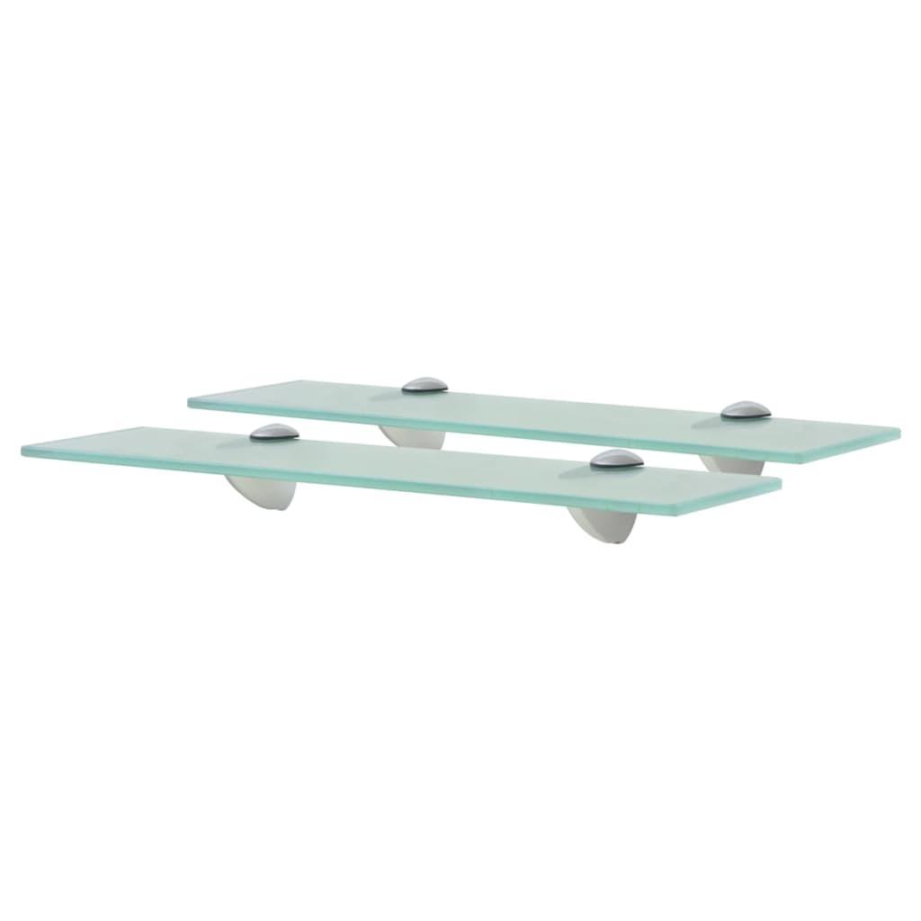 vidaXL Rafturi suspendate, 2 buc,. 40 x 10 cm, sticlă, 8 mm poza 2021 vidaXL