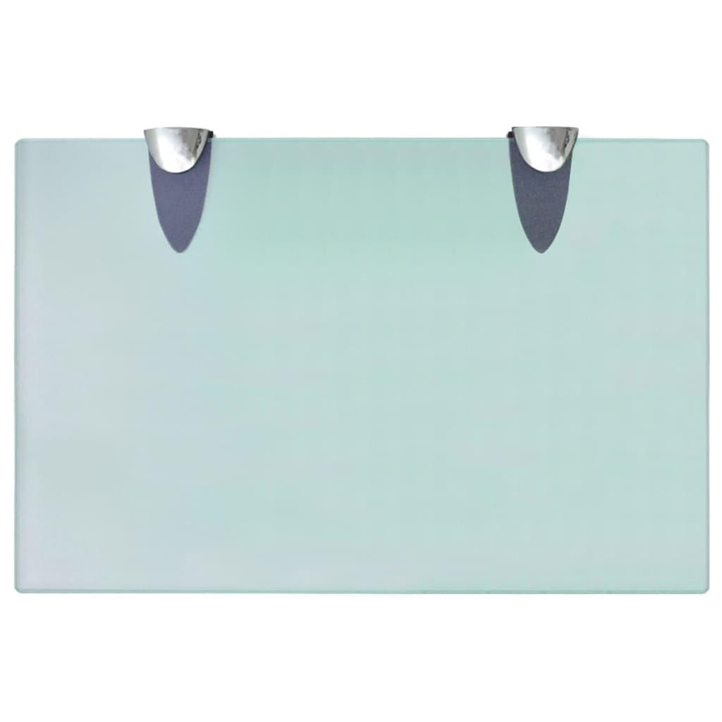 vidaXL Schappen zwevend 2 st 30x20 cm 8 mm glas meubelen boekenkasten wandplanken