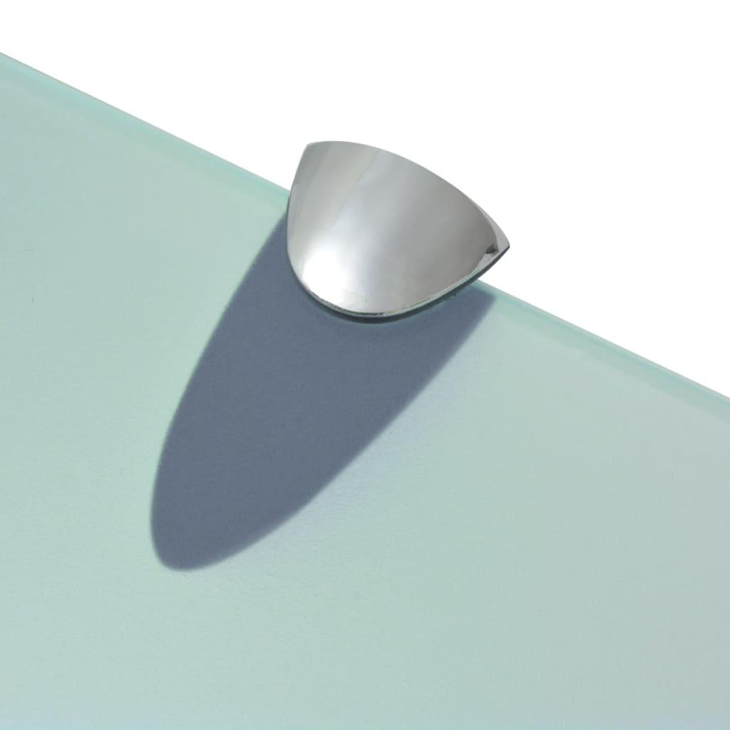 vidaXL Schappen zwevend 2 st 80x20 cm 8 mm glas