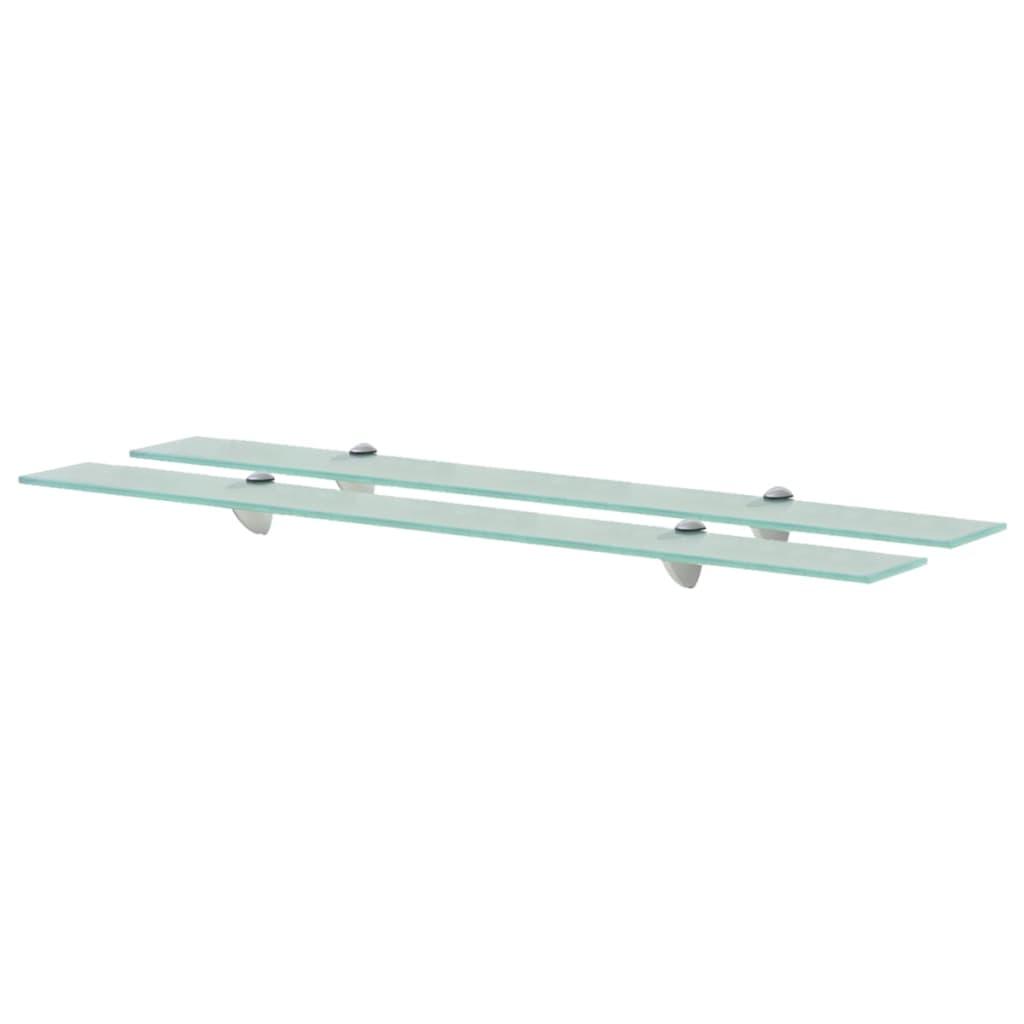 vidaXL Rafturi suspendate, 2 buc., 90 x 20 cm, sticlă, 8 mm poza vidaxl.ro