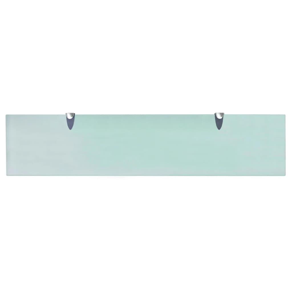 Schappen zwevend 2 st 90x20 cm 8 mm glas