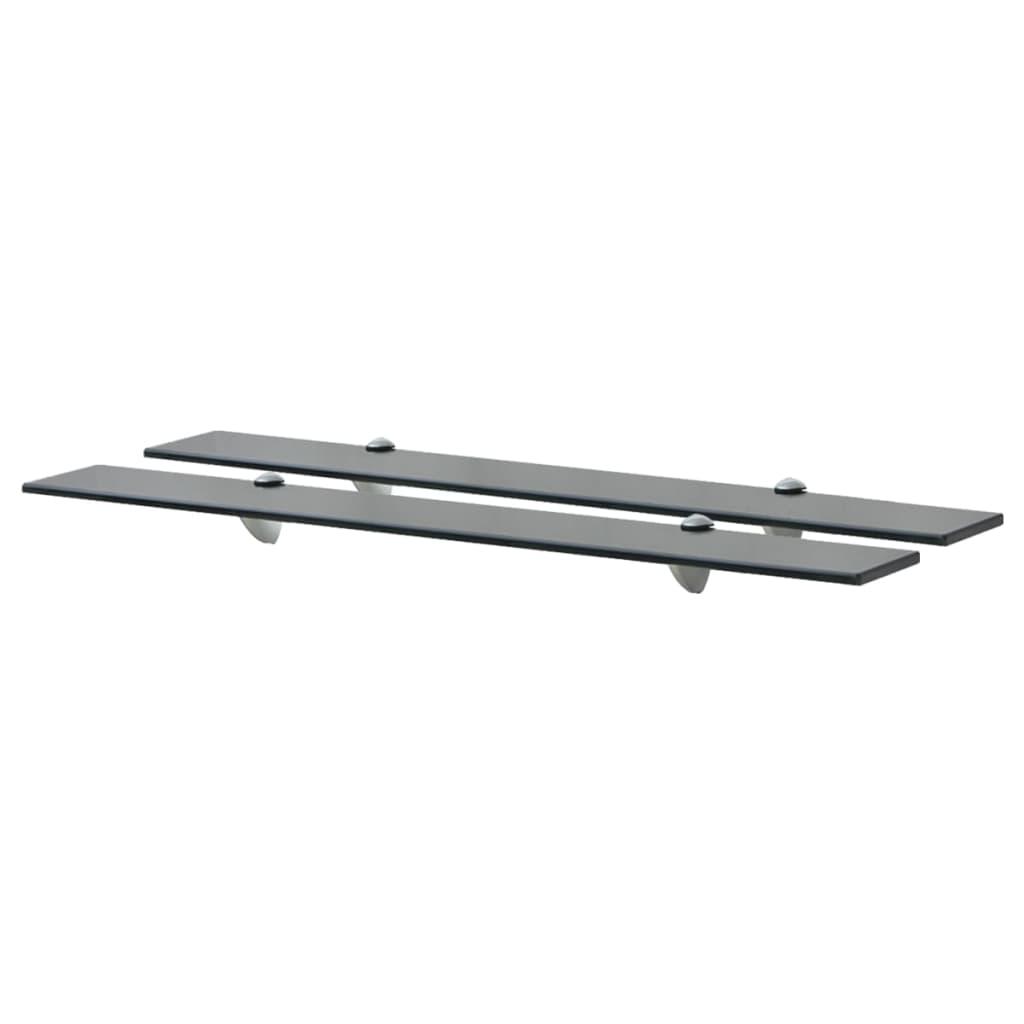 vidaXL Rafturi suspendate, 2 buc., 80 x 20 cm, sticlă, 8 mm vidaxl.ro