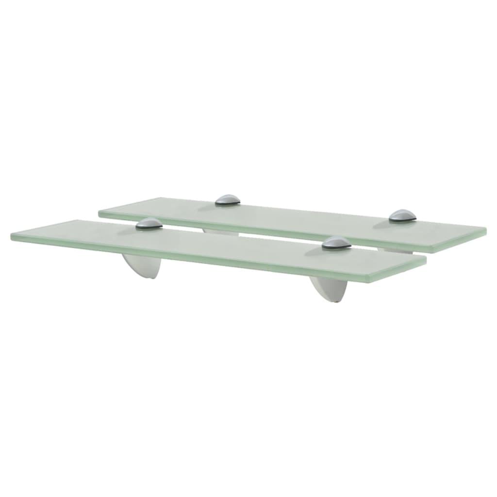 vidaXL Rafturi suspendate, 2 buc., 40 x 20 cm, sticlă, 8 mm vidaxl.ro