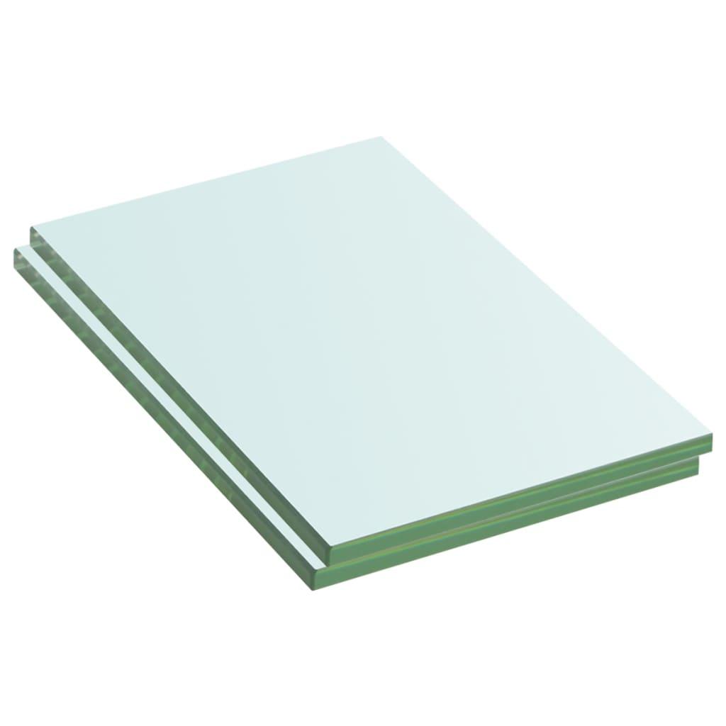 vidaXL Rafturi, 2 buc., 20 x 12 cm, panouri sticlă transparentă vidaxl.ro