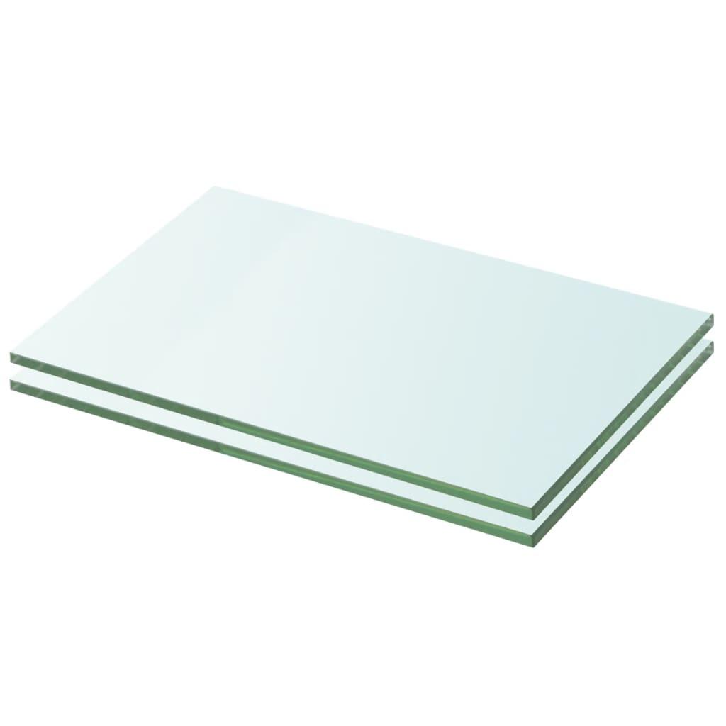 vidaXL Schappen 2 st 20x25 cm glas transparant