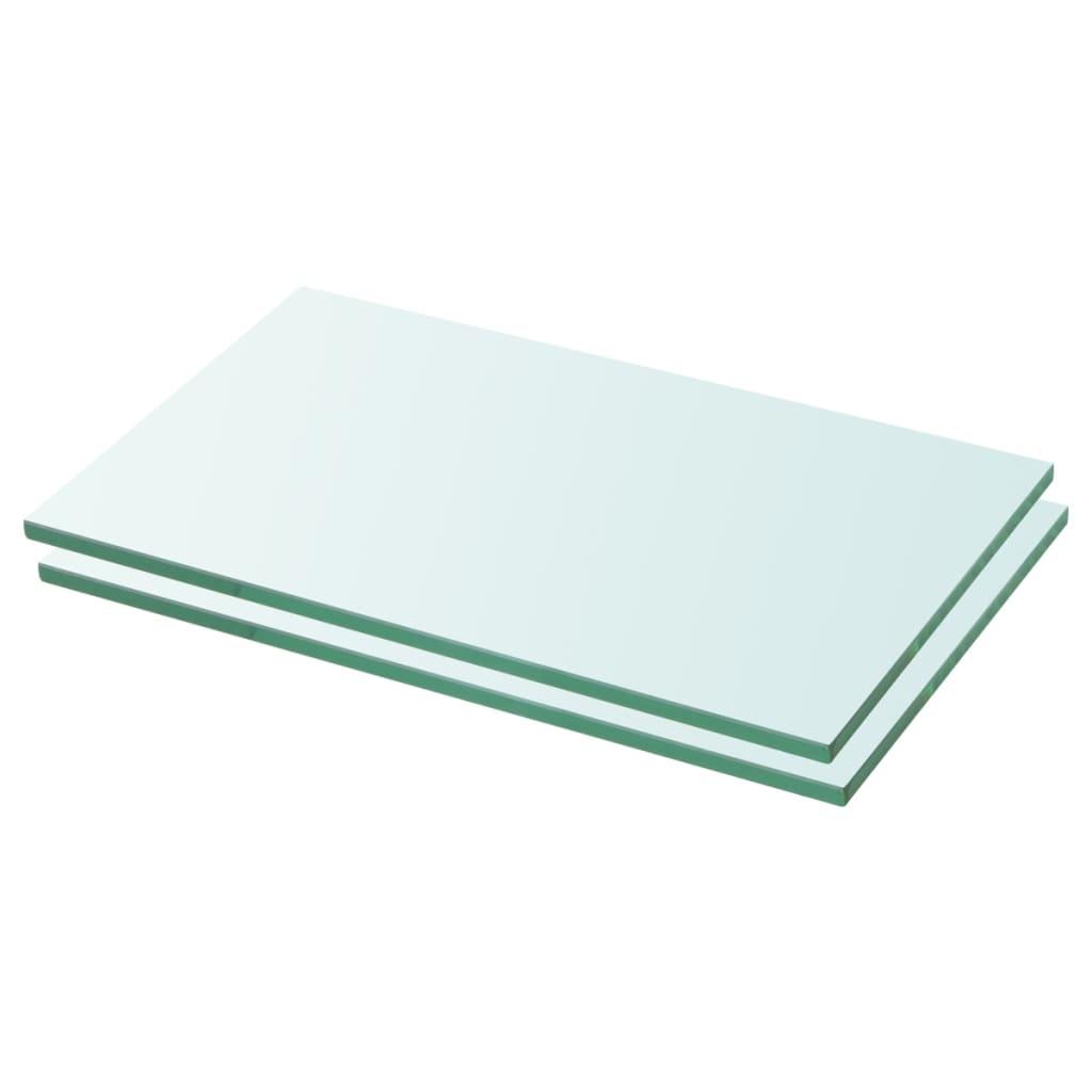 vidaXL Rafturi, 2 buc., 30 x 12 cm, panouri sticlă transparentă imagine vidaxl.ro