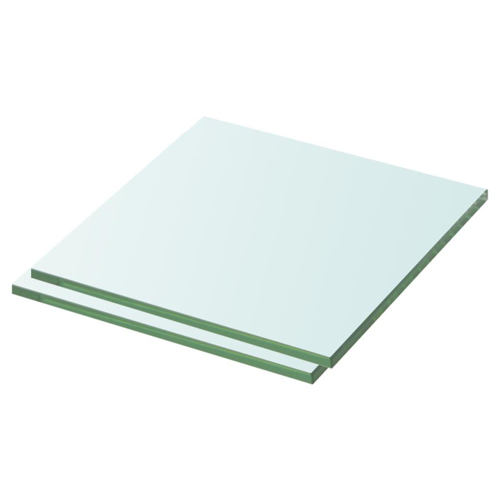 vidaXL Rafturi, 2 buc., 30 x 25 cm, panouri sticlă transparentă imagine vidaxl.ro