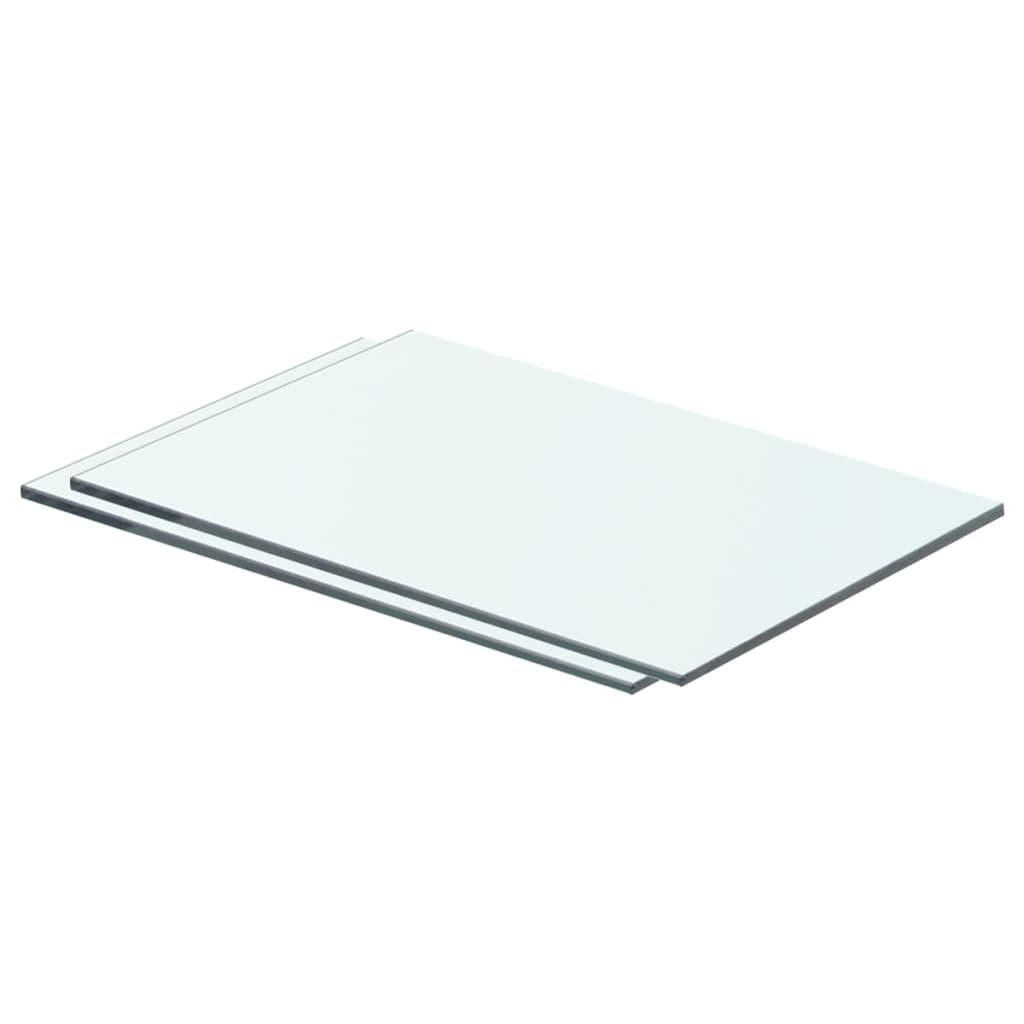 vidaXL Rafturi, 2 buc., 40 x 20 cm, panouri sticlă transparentă vidaxl.ro