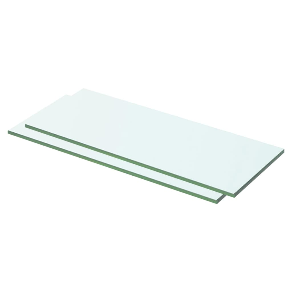 vidaXL Rafturi, 2 buc., 50 x 15 cm, panouri sticlă transparentă poza 2021 vidaXL