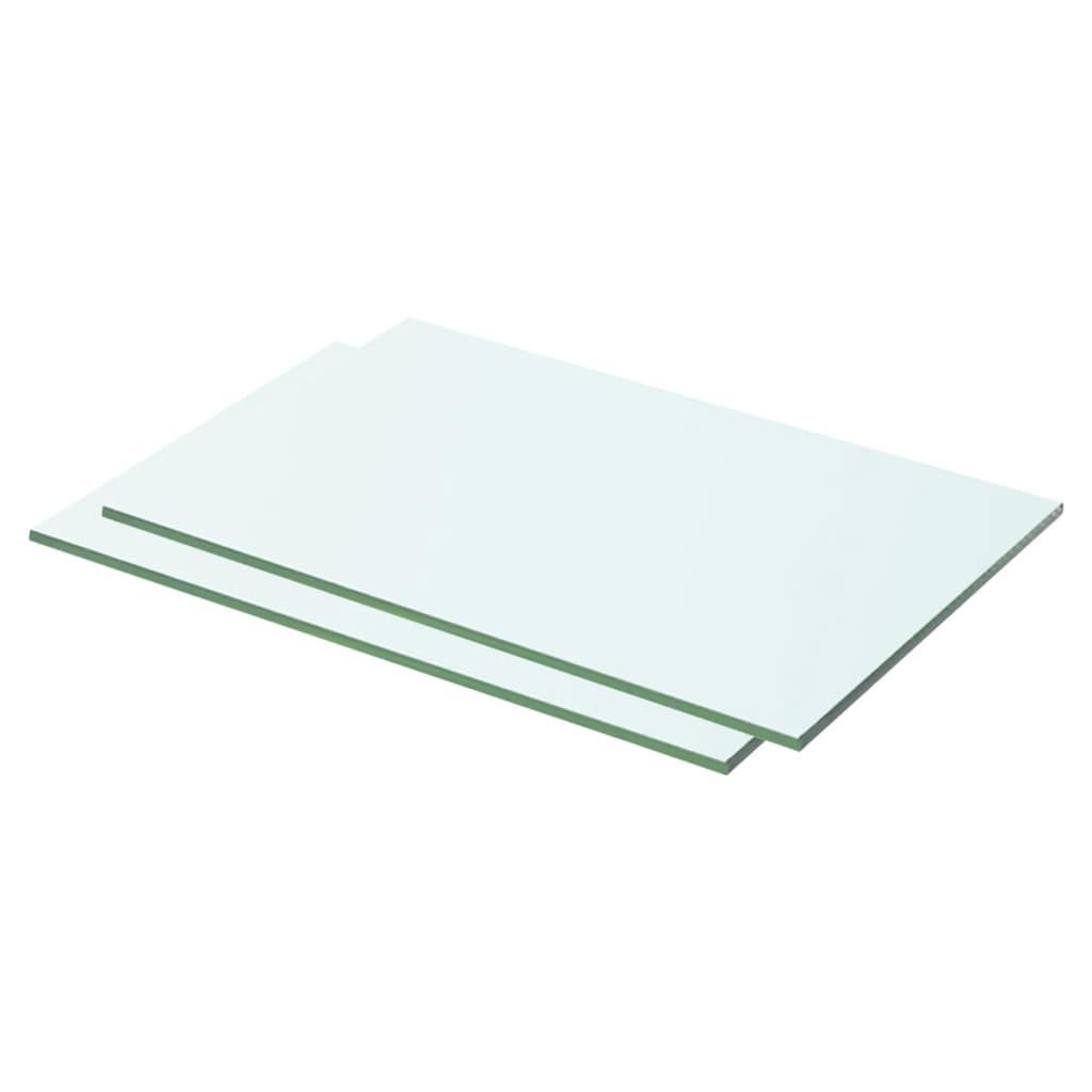 vidaXL Rafturi, 2 buc., 50 x 25 cm, panouri sticlă transparentă poza 2021 vidaXL