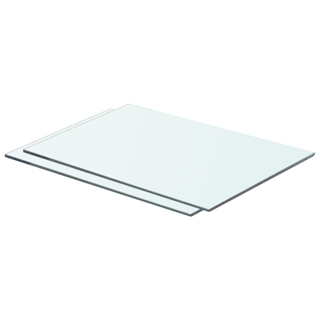 vidaXL Rafturi, 2 buc., 50 x 30 cm, panouri sticlă transparentă vidaxl.ro