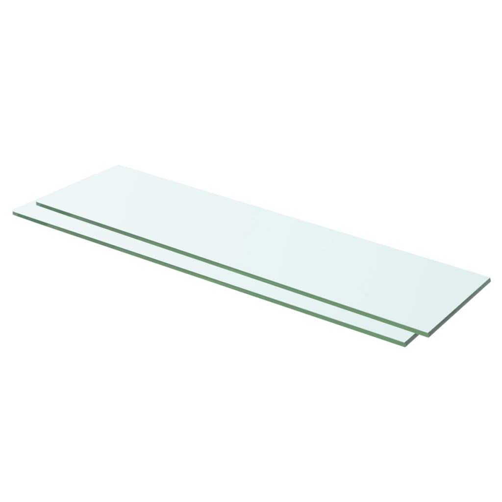 vidaXL Rafturi, 2 buc., 60 x 12 cm, panouri sticlă transparentă poza vidaxl.ro