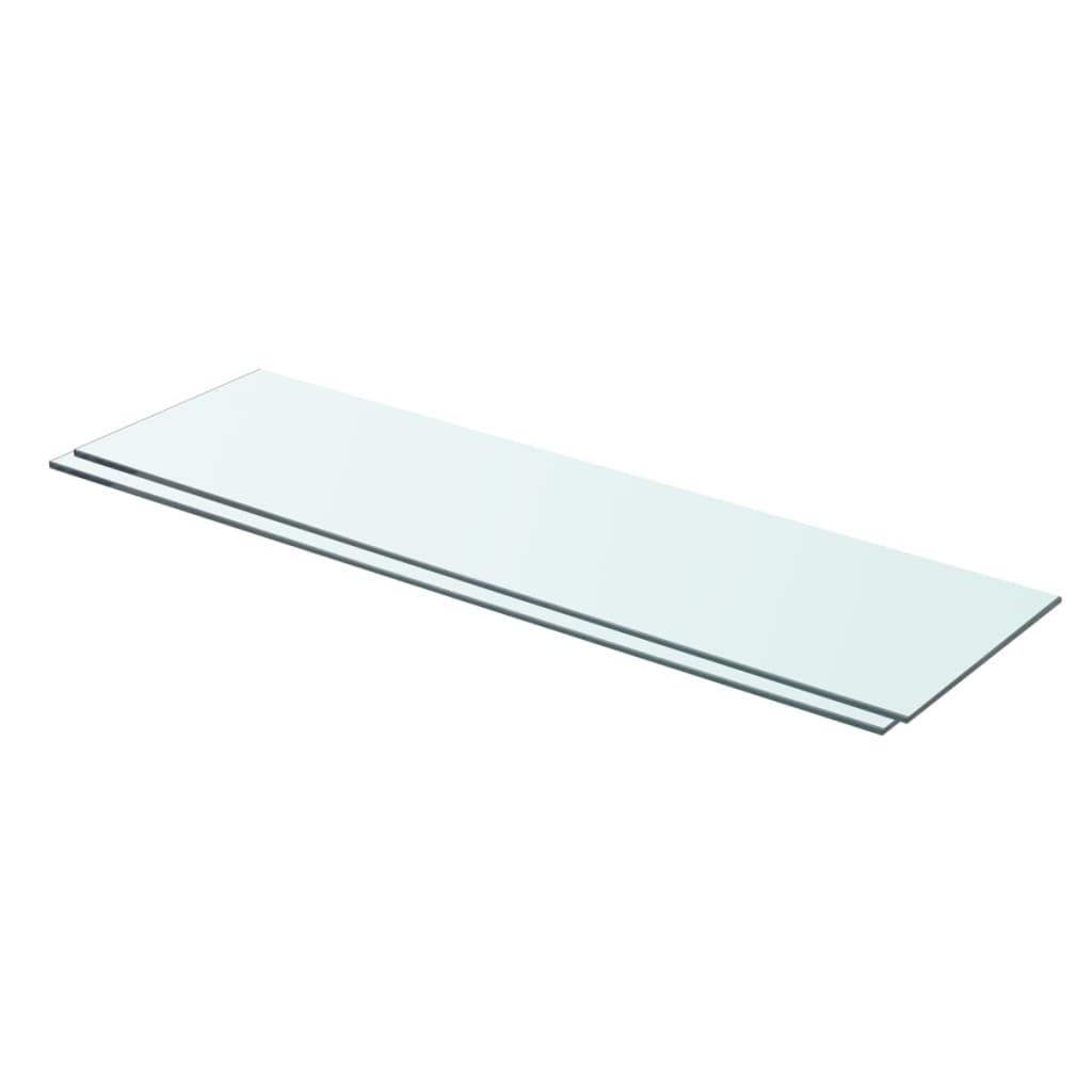 vidaXL Rafturi, 2 buc., 70 x 20 cm, panouri sticlă transparentă vidaxl.ro