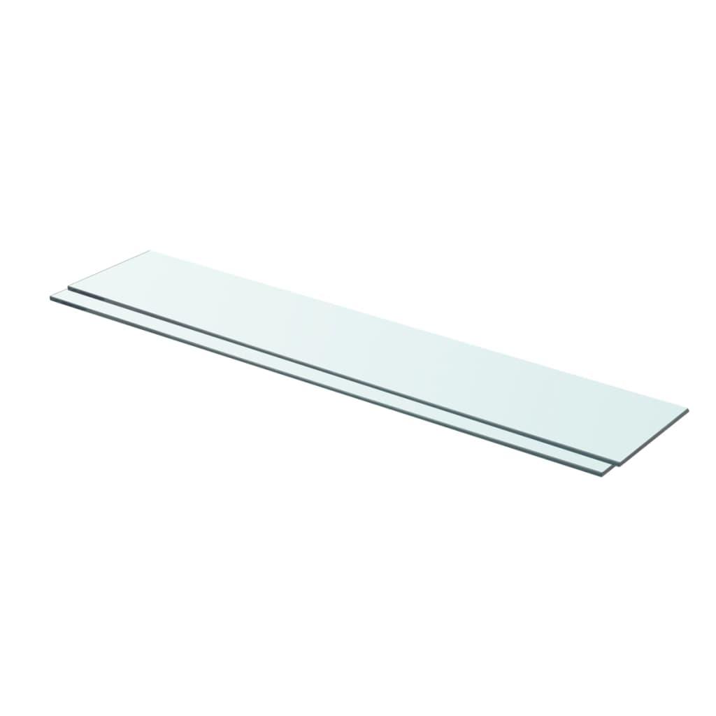 vidaXL Rafturi, 2 buc., 80 x 15 cm, panouri sticlă transparentă poza vidaxl.ro
