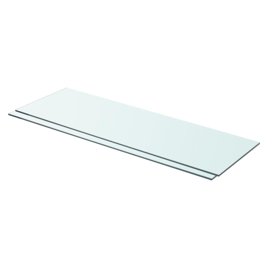vidaXL Rafturi, 2 buc., 80 x 25 cm, panouri sticlă transparentă poza 2021 vidaXL