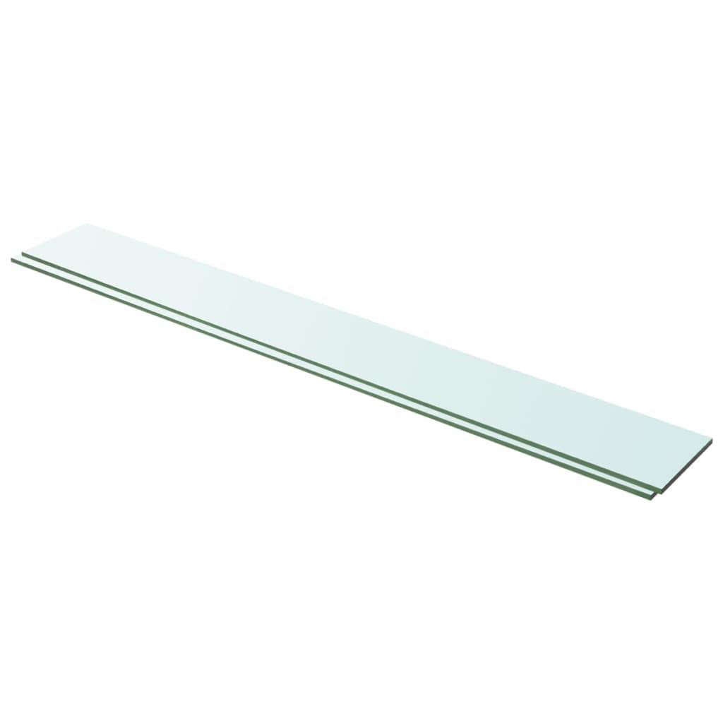 vidaXL Rafturi, 2 buc., 100 x 12 cm, panouri sticlă transparentă vidaxl.ro