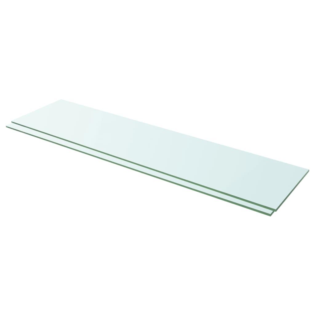 vidaXL Rafturi, 2 buc., 100 x 25 cm, panouri sticlă transparentă vidaxl.ro