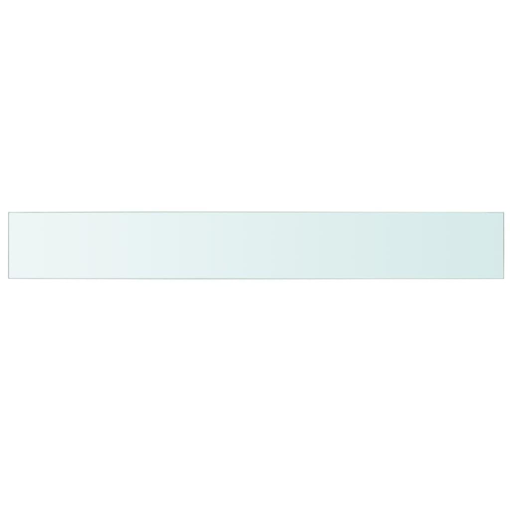 vidaXL Schappen 2 st 110x15 cm glas transparant