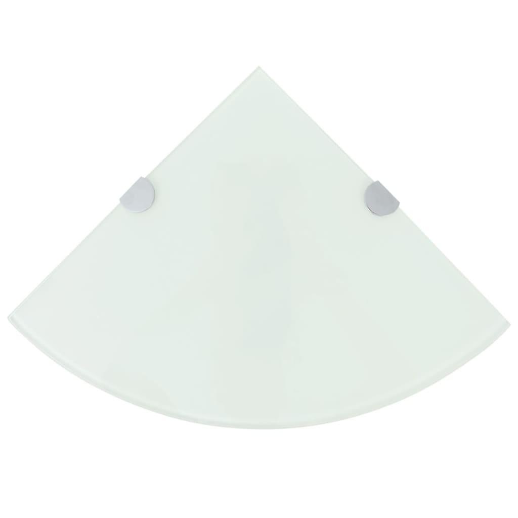 vidaXL Rafturi de colț cu suporturi de crom, 2 buc., 35x35 cm, sticlă poza 2021 vidaXL