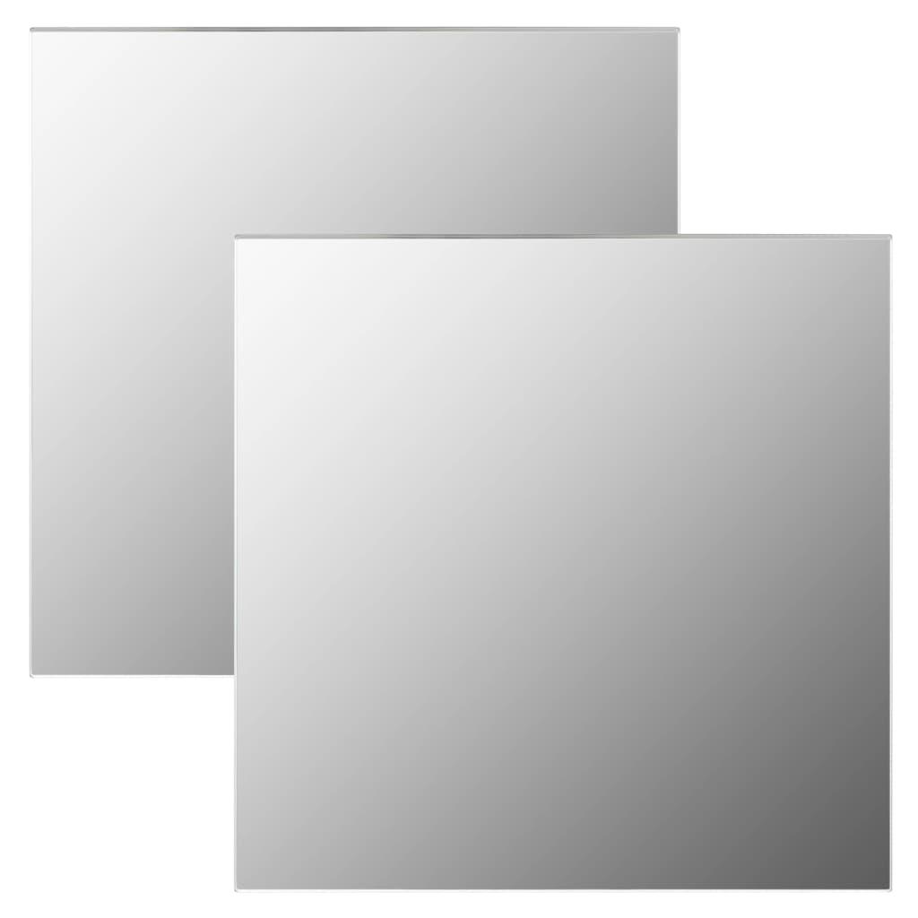 Wandspiegels 2 st vierkant 60x60 cm glas