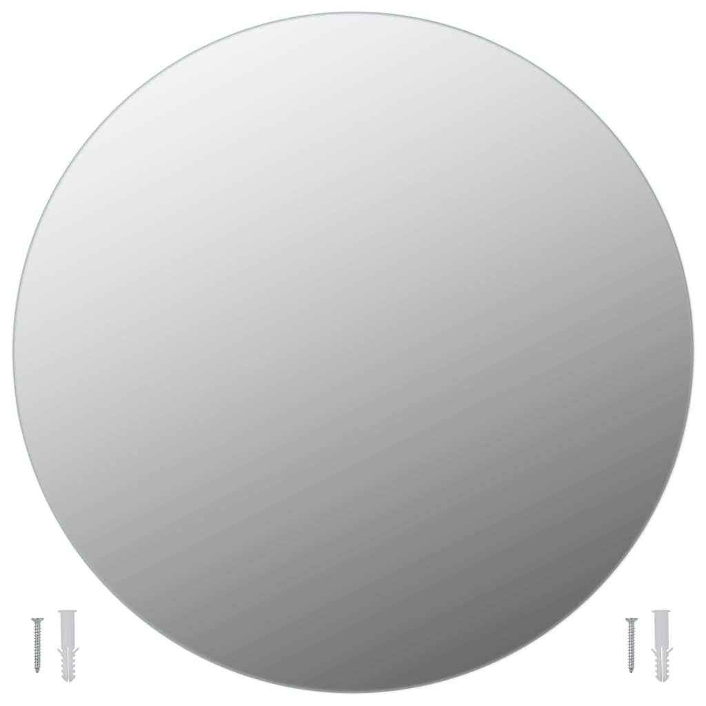 vidaXL Wandspiegels 2 st rond 60 cm glas