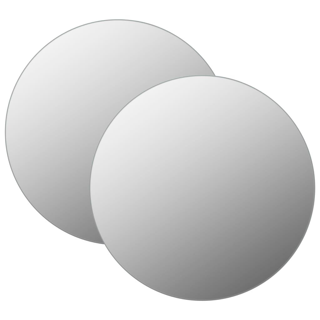 vidaXL Oglinzi de perete, 2 buc., 70 cm, sticlă, rotund imagine vidaxl.ro