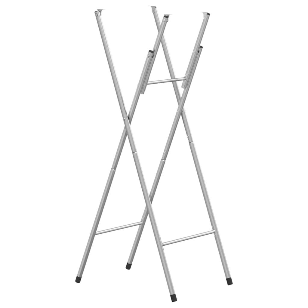 vidaXL Sklopive noge za stol srebrne 45 x 55 x 112 cm čelične