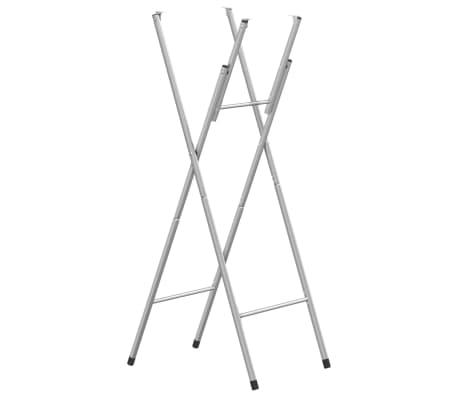 vidaXL Składane nogi do stołu, srebrne, 45x55x112 cm, stal