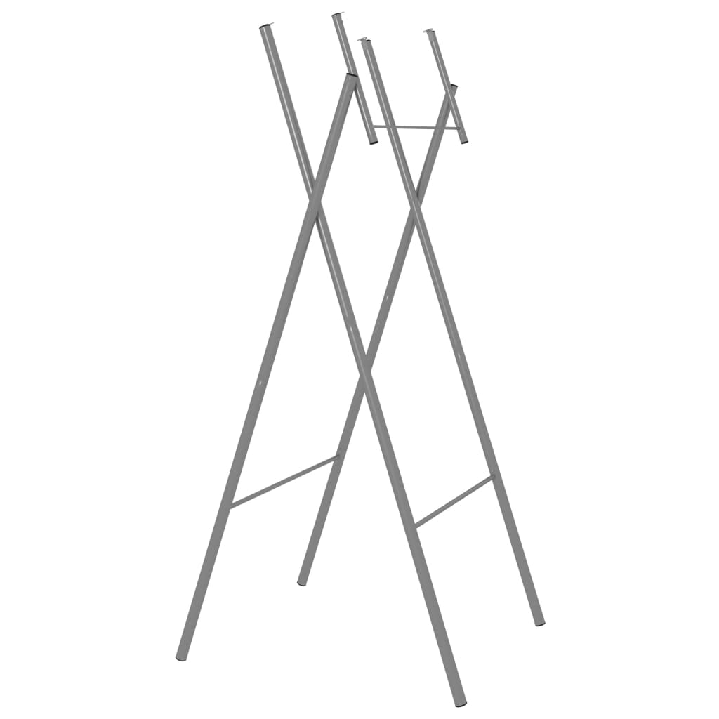 vidaXL Sklopive noge za stol 6 kom srebrne 45 x 55 x 112 cm čelične