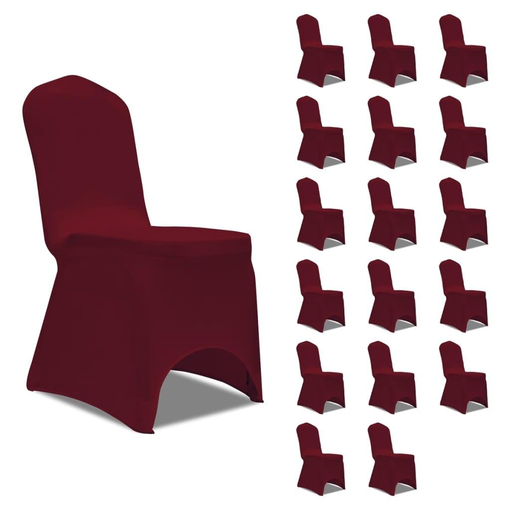 vidaXL Huse de scaun elastice, 18 buc., vișiniu poza 2021 vidaXL