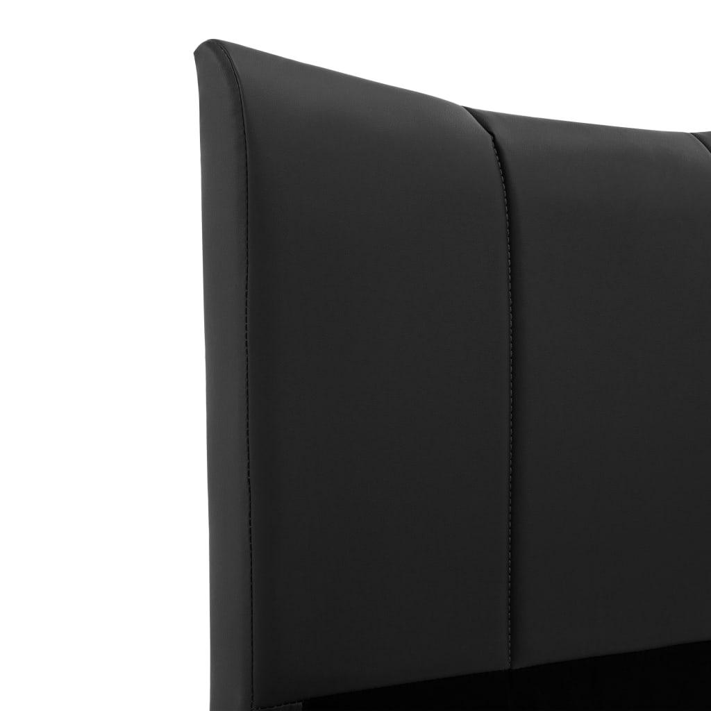 vidaXL Bedframe kunstleer zwart 90x200 cm