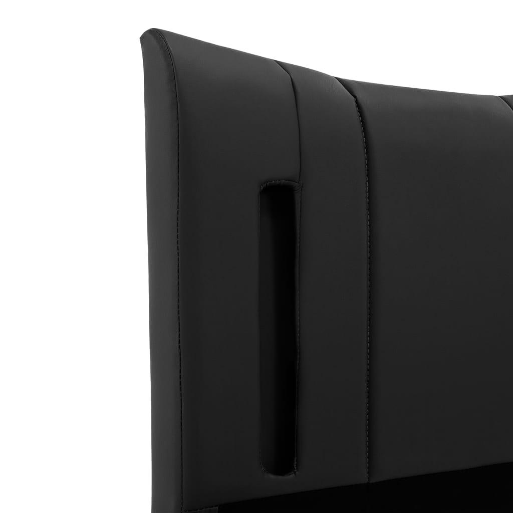 vidaXL Bedframe met LED kunstleer zwart 100x200 cm