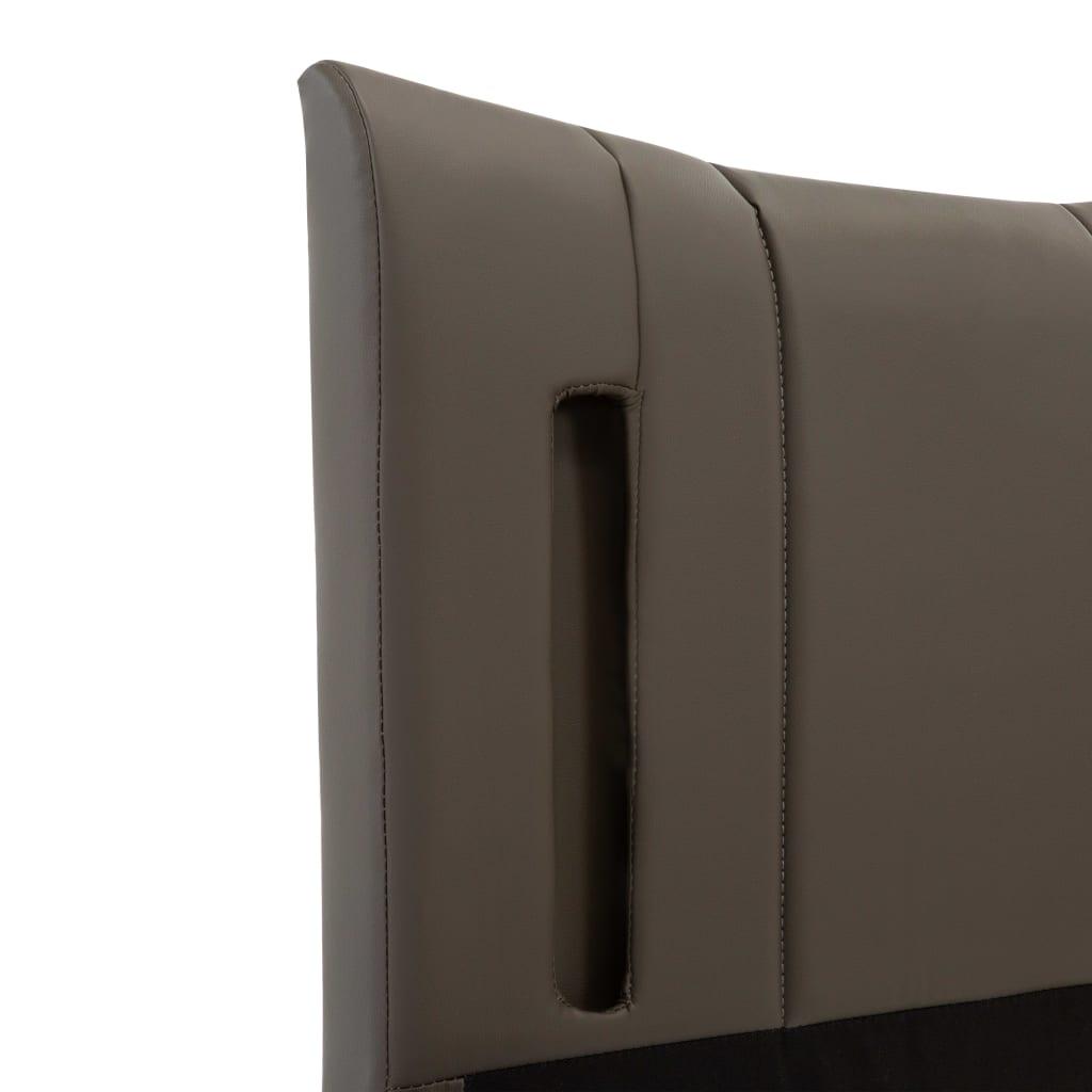 vidaXL Bedframe met LED kunstleer antraciet 140x200 cm