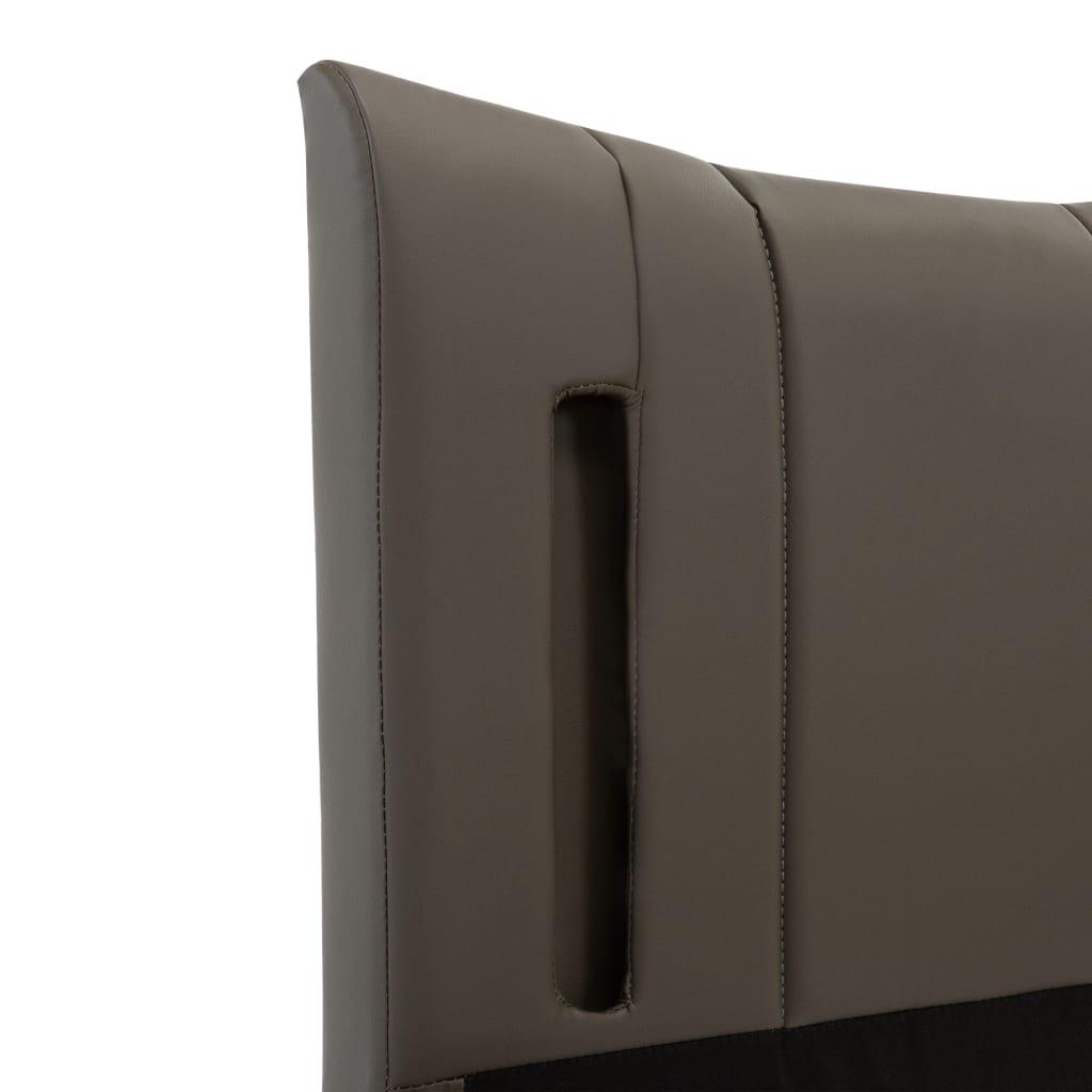 vidaXL Bedframe met LED kunstleer antraciet 180x200 cm