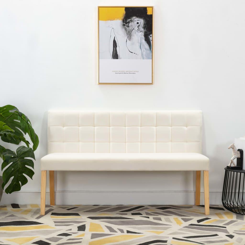 vidaXL Bancă, crem, 140 cm, material textil poza 2021 vidaXL