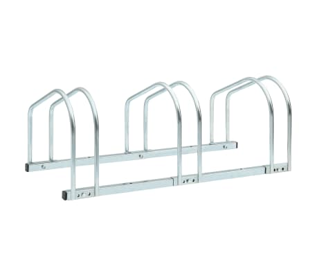 vidaXL 3-Bike Parking Floor Rack 71x33x27 cm Steel