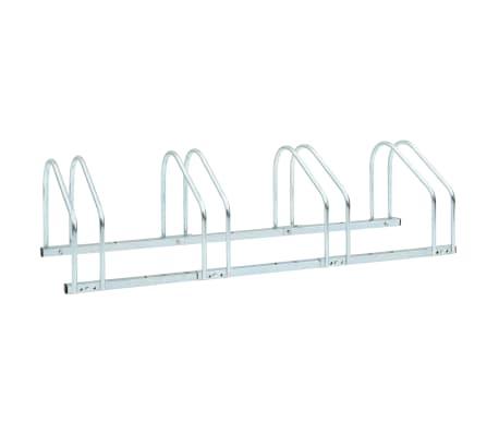 vidaXL 4-Bike Parking Floor Rack 104x33x27 cm Steel