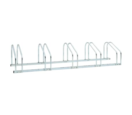 vidaXL 5-Bike Parking Floor Rack 136x33x27 cm Steel