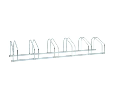 vidaXL 6-Bike Parking Floor Rack 168x33x27 cm Steel
