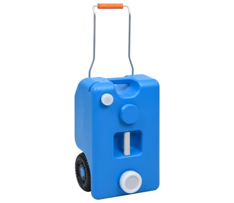 vidaXL Wheeled Water Tank for Camping 25 L Blue