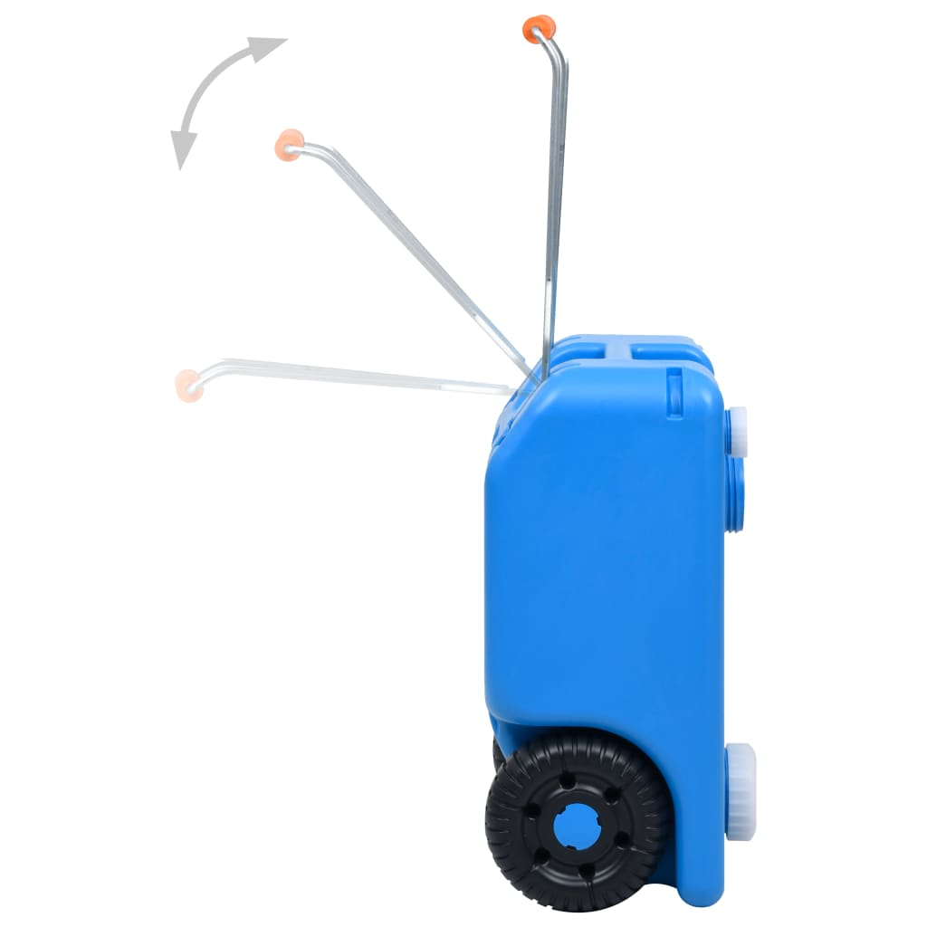 Nádrž na vodu na kolečkách na kempování 25 l modrá