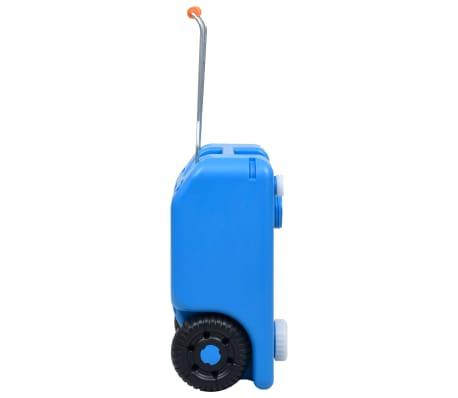 vidaXL Camping-Wassertank mit Rollen 25 L Blau